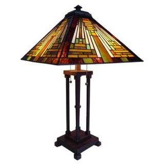 Chloe Lighting Tiffany Style Mission Table Lamp   CH23B1118TL