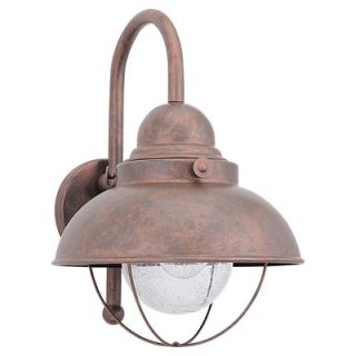Sea Gull Lighting Sebring Outdoor Wall Lantern in Weathered Copper