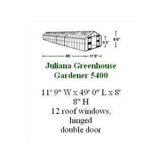 Juliana Gardener Polycarbonate Commercial Greenhouse   Gardener