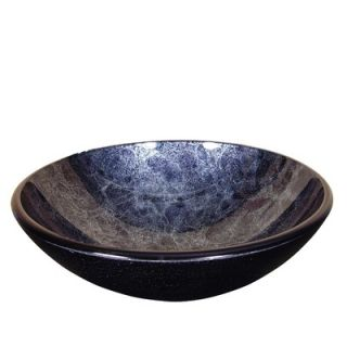 Yosemite Home Decor Deep Blue Round Glass Basin