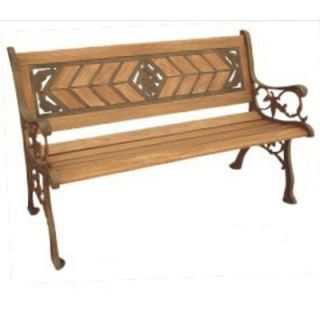DC America Amarillo Rose Wood and Cast Iron Park Bench   SL6810 AB