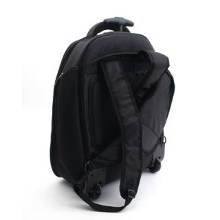 Merax Fly Over Rolling 15.4 Laptop Backpack in Black   207 427