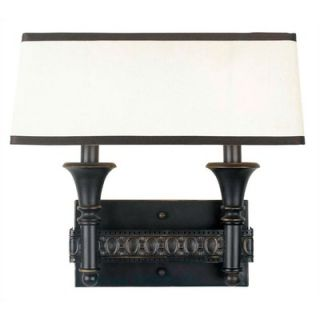 World Imports Lighting Uptown Gallery 2 Light Wall Sconce in Oiled