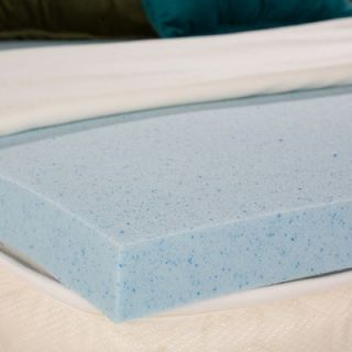 Wildon Home ® Bliss Gel Memory Foam Mattress Topper   DTO459GG