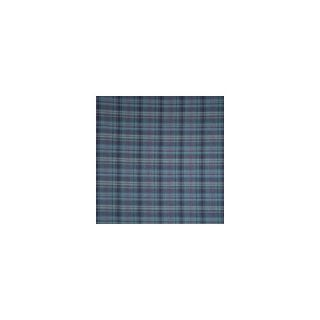 Patch Magic Grey and Navy Blue Plaid Red Lines Bed Curtain