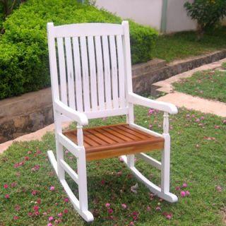 International Caravan Acacia Patio Traditional Porch Rocking Chair