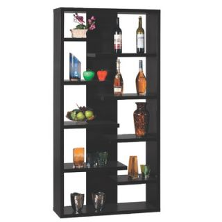 Hokku Designs Payton Eight Shelves Bookcase / Display Cabinet in Black