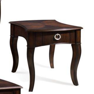 Steve Silver Furniture Tomlin End Table in Multi Step Dark Cherry
