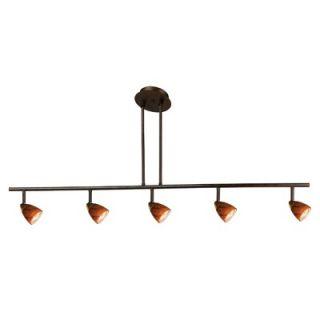 Cal Lighting Serpentine Five Light Track Light with Rust Cones in Rust