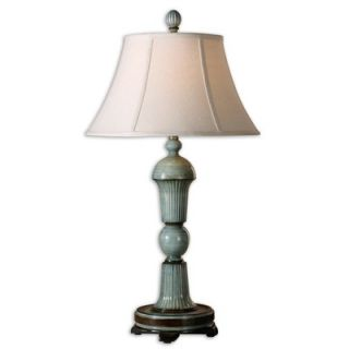 Uttermost Attilio Table Lamp in High Gloss Antique Blue