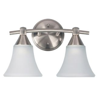 Canarm Grace Two Light Bath Vanity in Brushed Pewter   IVL221A02BPT