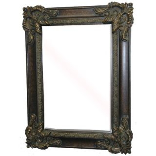 Imagination Mirrors Sir Gawain Decorative Framed Mirror in Walnut Gold