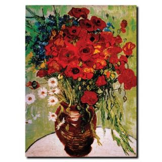 Trademark Global Daisie and Poppies by Vincent Van Gogh, Canvas Art