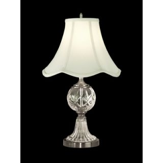 Dale Tiffany One Light Crystal Table Lamp in Pewter