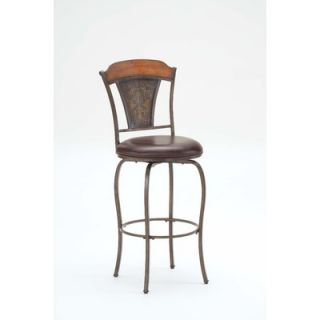 Hillsdale Huntington Swivel Stool in Distressed Chestnut Brown