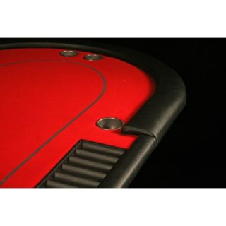 BBO Poker V5 Series Specialized Poker Table with Red Playing Surface