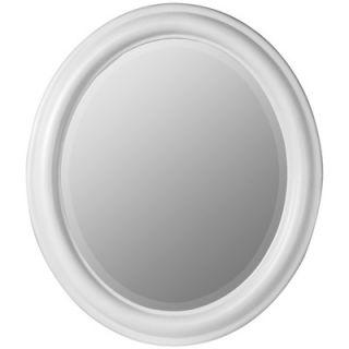 Cooper Classics Addison Oval Mirror in Chesapeake White Finish