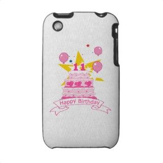 11 Year Old Birthday Cake iPhone 3 Cases