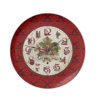 Vintage 12 Days of Christmas Plate
