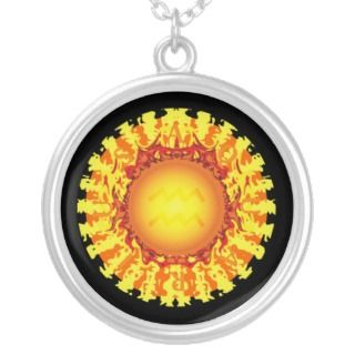 Sun in Aquarius Solar Disc Necklace
