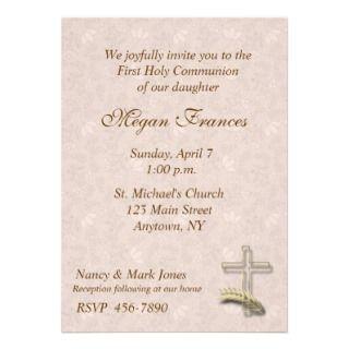 Religious Gold Cross Invitation