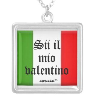 Italian Valentines day necklaces for women & men
