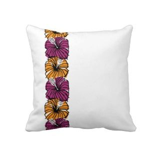 Tropical Hibiscus Flower Pillow