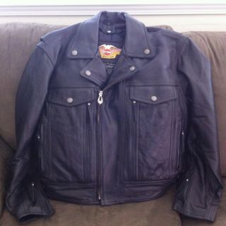 Harley Davidson Nevada Leather Jacket Mens Medium