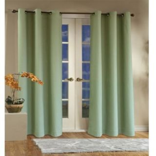 New Thermal Insulated Grommet Top Drapes 80X95 Sage Green FREE