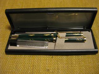 Golf Ball Point Pen Pencil Set with Case Box of Pencil Refills Pen