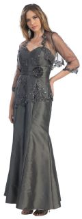 FORMAL OCCASION MOTHER OF THE BRIDE/ GROOM DRESS EVINING M/ 5XL +Plus