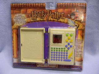 2001 Tiger Electronics HARRY POTTER Book Of Spells MIP