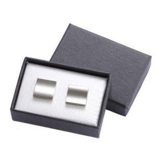 Silver Metal Cufflinks in Gift Box Engraved Groomsmen Gift