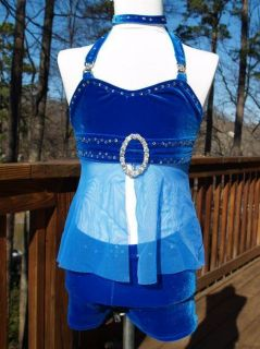 Dance Talent Groovy Doll Wear OOC Costume Royal Blue 3pc 7 8