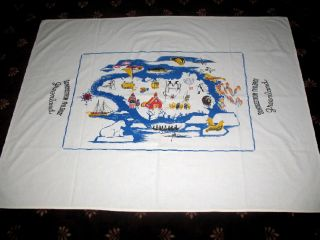 Vintage Tablecloth Sondrestorm Air Base Greenland