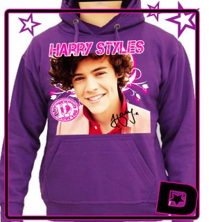 One Direction Harry Styles Hoodie Hood All Colours Kids Adults Size