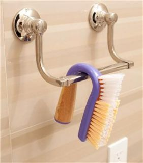 Grunge Buster Bamboo Grout Tile Cleaning Scrub Brush Purple