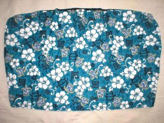 Honu Hawaiian Quilt Car Seat Covers Bench Cover Blue
