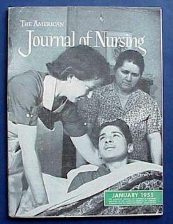 January 1955 American Journal of Nursing  Vintage Medical