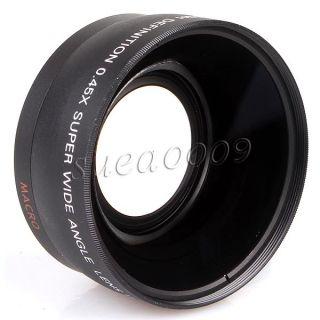 45X 58mm Wide Angle Lens for Canon 550D 400D 450D 500D 600D 1000D