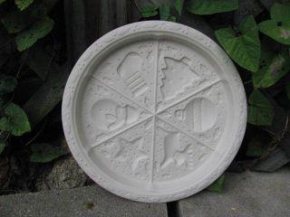 Hartstone Pottery Vtg White Christmas Ornaments Shortbread Mold Cookie