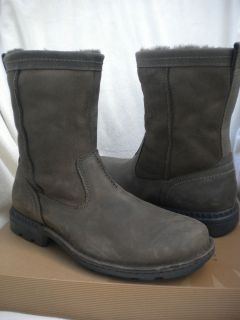 UGG Mens Hartsville Leather Ranch Biker Boots Seal Brown Most Sizes