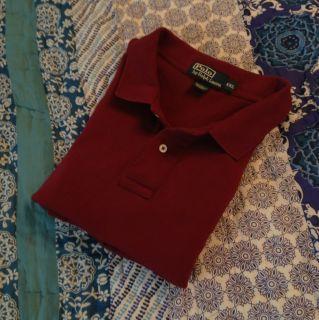 POLO by Ralph Lauren XXL Short Sleeve Cotton Shirt Burgundy Wine Very