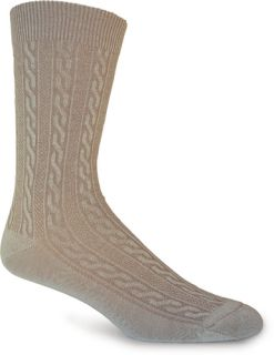 New Goodhew Womens Lifestyle Essentials San Fran Cable Fawn Sock Size