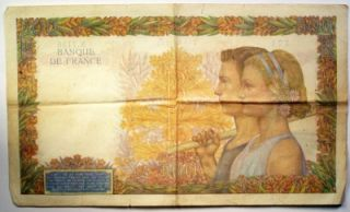 1940 Banque de France 500 Francs Note Fine French WW II Paper Money