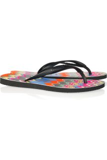 Missoni Havaianas Slim wave print rubber flip flops   50% Off