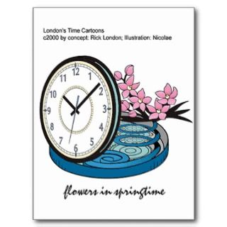 Flowers In Springtime Silly Funny Gifts & Tees Post Card