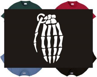 Shirt Tank Hand Grenade Skeleton Explosive Bones