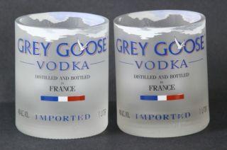 Grey GOOSE Vodka on The Rocks Glass Set of 2 Made from Original Bottle