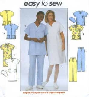 Top Dress Pants Hat Sewing Pattern V Neck Kimono 8336 Easy